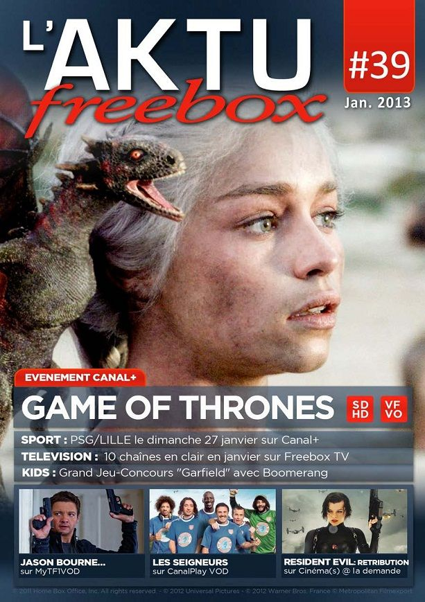 L'AKTU Freebox N°39 Janvier 2013