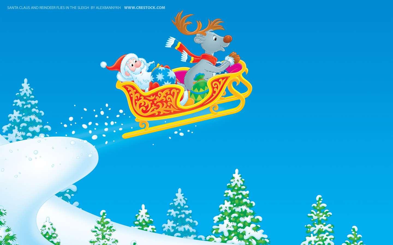 Santa en el trineo