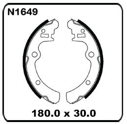 fits-Subaru-Brumby-Ute-1985-3-1994-REAR-Drum-Brake-Shoe-SET-N1649
