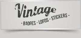 Vintage Logos / Badges / stickers V1